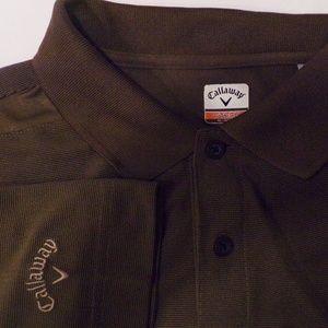 Callaway Big Men's Brown Polo Golf Shirt